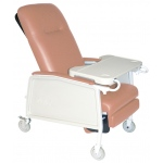 Drive Medical Design 3 Position Geri Chair Recliner: Heavy Duty, Bariatric, Rosewood