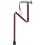 Drive Medical Design Aluminum Folding Canes with Gel Grip: Height Adjustable, Red Crackle
