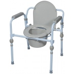 Drive Medical Design Folding Steel Commode: Standard Seat Depth, Retail Package