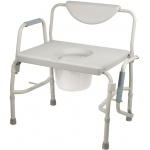 Drive Medical Design Deluxe Bariatric Drop-Arm Commode: Assembled