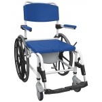 "Drive Medical Design Aluminum Rehab Shower Commode Chair with 24"" Rear Wheels"