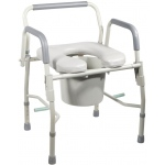 Drive Medical Design Deluxe Steel Drop-Arm Commode with Padded Seat: Knocked-Down Frame