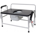 Drive Medical Design Extra-Large Bariatric Drop Arm Commode: Assembled