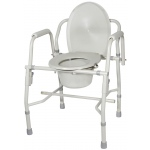 Drive Medical Design Deluxe Steel Drop-Arm Commode: Knocked-Down Frame