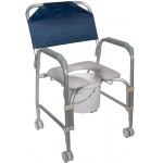 Drive Medical Design Aluminum Shower Chair and Commode with Casters: Knocked Down