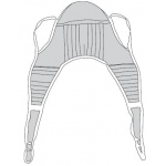 "Drive Medical Design U Sling with Head Support: Padded, Small, 44"" x 35"", Weight Capacity 600 lbs."