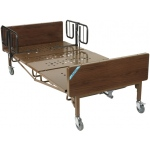 "Drive Medical Design Full-Electric Bariatric Bed with 1 Pair ""T"" Rails: 48"""