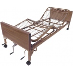 "Drive Medical Design Multi-Height Manual Bed with Full-Length Side Rails and 80"" Therapeutic Support Mattress"