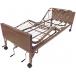 "Drive Medical Design Multi-Height Manual Bed with Half Rails and 80"" Therapeutic Support Mattress"