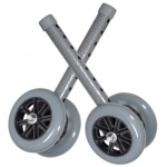 Drive Medical Design Bariatric Walker Wheels with Two Sets of Rear Glides: Silver Vein with Gray Wheels, 5""