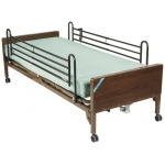 "Drive Medical Design Delta™ Semi-Electric Bed with Full-Length Side Rails and 80"" Innerspring Mattress: Ultra- Light 1000"