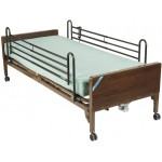 "Drive Medical Design Delta™ Semi-Electric Bed with Full-Length Side Rails and 80"" Therapeutic Support: Ultra- Light 1000"