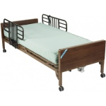 "Drive Medical Design Delta™ Semi-Electric Bed with Half Rails and 80"" Therapeutic Support Mattress: Ultra- Light 1000"