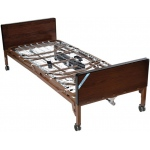 "Drive Medical Design Delta™ Full-Electric Bed with Half Rails and 80"" Innerspring Mattress: Ultra-Light 1000"