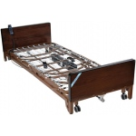 "Drive Medical Design Delta™ Full-Electric Low Bed with Half Rails and 80"" Innerspring Mattress: Ultra-Light 1000"