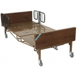 "Drive Medical Design Full-Electric Bariatric Bed with 1 Pair ""T"" Rails: 42"""