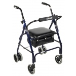 "Drive Medical Design Mimi Lite Aluminum Rollator: 6"" Casters, Winnie, Padded Seat, Push Lock"