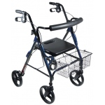 "Drive Medical Design D-Lite Aluminum Rollator with Removable 8"" Casters: Blue"
