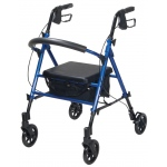 "Drive Medical Design Aluminum Rollator: Blue, 6"" Casters"
