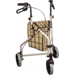"Drive Medical Design Winnie Lite Supreme/Go Lite 3 Wheel Aluminum Rollator: 7.5"" Casters, Loop Locks"