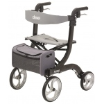 "Drive Medical Design Nitro Aluminum Rollator: Black, 10"" Casters"