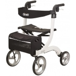 "Drive Medical Design Nitro Aluminum Rollator: White, 10"" Casters"