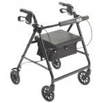 "Drive Medical Design Aluminum Rollator: Black, 6"" Casters"