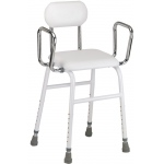 Drive Medical Design All-Purpose Stool with Adjustable Arms: White