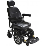 "Drive Medical Design Trident Standard Power Wheelchair Front-Wheel Drive: 18"" Captain's Seat"