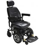 "Drive Medical Design Trident Standard Power Wheelchair Front-Wheel Drive: 20"" Captain's Seat"