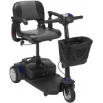 "Drive Medical Design Spitfire EX 1320 Compact Travel Scooter: 21AH Battery, 16"" Folding Seat"