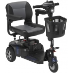 "Drive Medical Design Phoenix HD 3 Heavy-Duty Travel Scooter: 17.5"" Folding Seat"