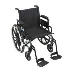 Drive Medical Design Viper Plus GT Wheelchair with Deluxe High-Strength Lightweight and Dual-Axle: Flip Back, Detachable, Adjustable Height Desk Arm, Swing-away Footrests, 18""