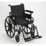 Drive Medical Design Viper Plus GT Wheelchair with Deluxe High-Strength Lightweight and Dual-Axle: Flip Back, Detachable, Adjustable Height Full Arm, Swing-away Footrests, 16""