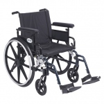 Drive Medical Design Viper Plus GT Wheelchair with Deluxe High-Strength Lightweight and Dual-Axle: Flip Back, Detachable, Adjustable Height Full Arm, Swing-away Footrests, 20""