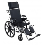 Drive Medical Design Lightweight Deluxe High Strength Viper Plus Reclining Wheelchair: Flip Back, Detachable Desk Arm, Swing-Away, Elevating Leg Rests, 16""
