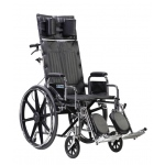 Drive Medical Design Deluxe Sentra Full Reclining Wheelchair: Detachable Desk Arm, Swing-Away Elevating Leg Rests, 22""
