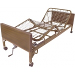 Drive Medical Design Semi-Electric Bed with Full-Length Side Rails: Single Crank