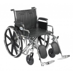 Drive Medical Design Bariatric Sentra EC Heavy-Duty Wheelchair with Dual Cross Brace: Detachable Desk Arm, Elevating Leg Rests, 20""
