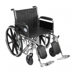 Drive Medical Design Bariatric Sentra EC Heavy-Duty Wheelchair with Dual Cross Brace: Detachable Full Arm, Elevating Leg Rests, 20""