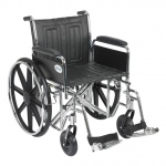 Drive Medical Design Bariatric Sentra EC Heavy-Duty Wheelchair with Dual Cross Brace: Detachable Full Arm, Swing Away Footrests, 20""