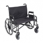 Drive Medical Design Bariatric Deluxe Sentra Heavy Duty Wheelchair Extra Wide: Detachable Desk Arm, Riggings Sold Separately, 30""