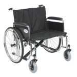 Drive Medical Design Bariatric Sentra EC Heavy Duty Extra Wide Wheelchair with Dual Cross Brace: Detachable Full Arm, Sold Separately, 26""