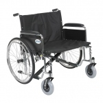 Drive Medical Design Bariatric Sentra EC Heavy Duty Extra Wide Wheelchair with Dual Cross Brace: Detachable Full Arm, Sold Separately, 28""