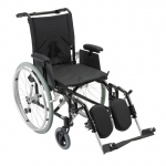 "Drive Medical Design Cougar Ultralight Aluminum Wheelchair: Detachable ""T"" Style Desk Arm, Swing Away Elevating Leg Rest, 16"""