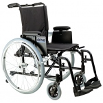 "Drive Medical Design Cougar Ultralight Aluminum Wheelchair: Detachable ""T"" Style Desk Arm, Swing Away Footrest, 18"""