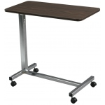 Drive Medical Design Non-Tilt Top Chrome Overbed Table