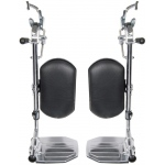 Drive Medical Design Swing-Away Elevating Leg Rests for Wheelchair: Aluminum Foot Plate, 9.20 lbs., 18""
