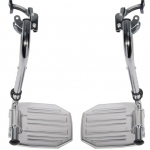 Drive Medical Design Swing-Away Footrests: Aluminum Foot plate, 6 lbs., 18""