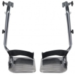 Drive Medical Design Swing Away Footrests: Aluminum Foot Plate